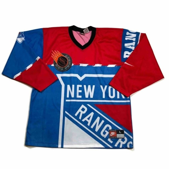 hot sale online 4dcff 99908 Nike Mens New York Rangers Jersey NHL Vintage 90s